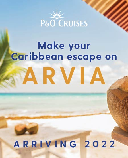 Arvia sails to the Caribbean