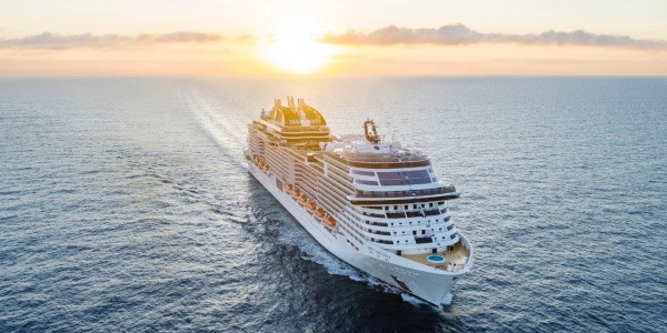 MSC Virtuosa sails from the UK