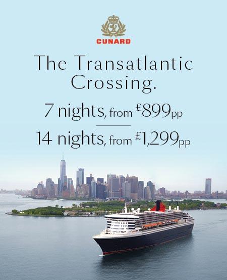 Transatlantic crossings aboard Queen Mary2
