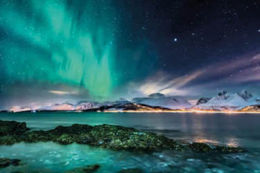 Iceland with Northern Lights