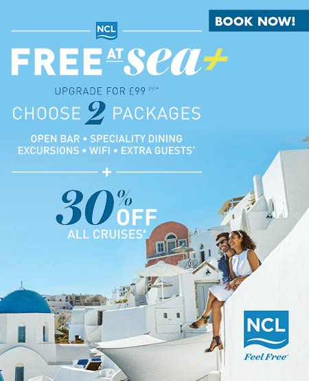 Norwegian Cruise Line offers with 30% off