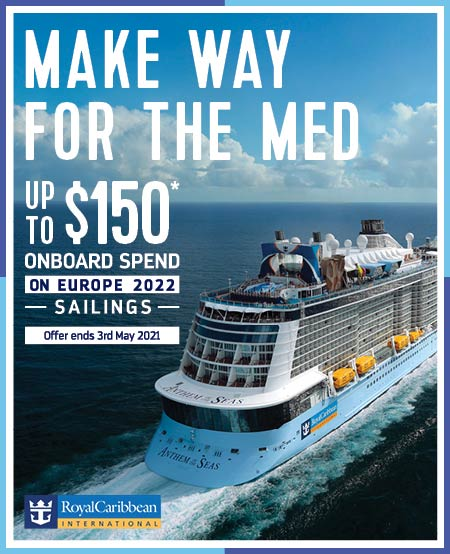 Royal Caribbean 2022 Europe sailings with onboard spend