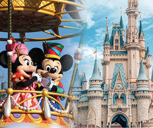 Orlando Disney and mickey and minnie mouse