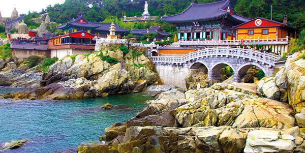Yakcheonsa Temple on Jeju Island
