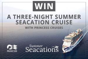 Princess Cruises win a three-night summer seacation cruise