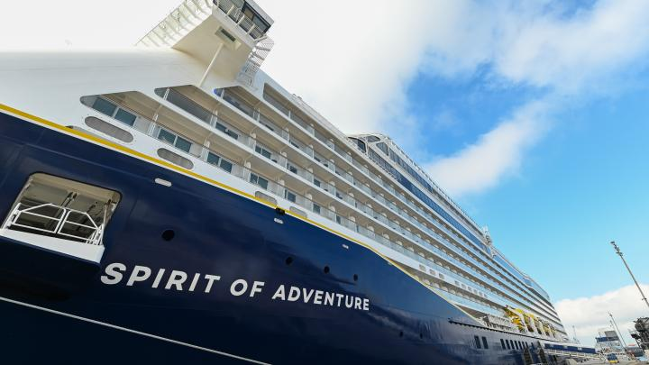 New Saga Ship Becomes First Christened in Portsmouth