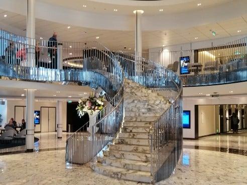Atrium lower staircase