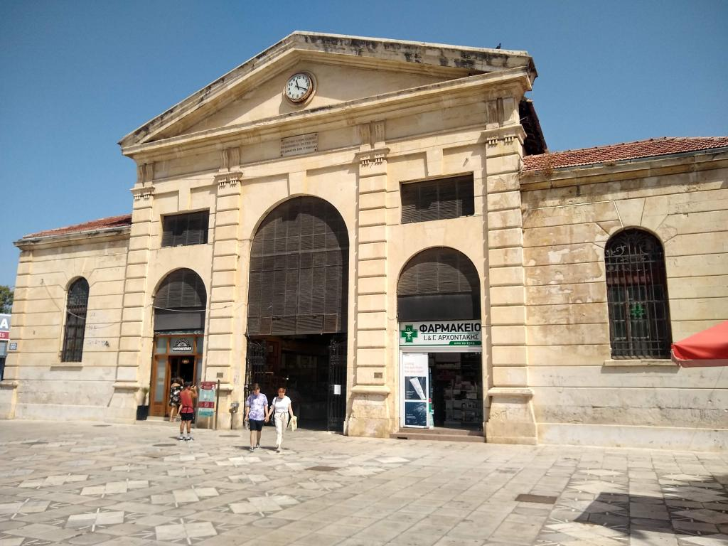 In the Old Chania Market you can find all kinds of stalls, from your daily groceries to more tourist oriented trinkets.