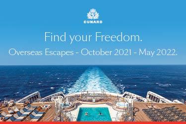 Cunard find your freedom