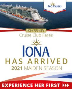 P&O Cruises Iona Maiden Season