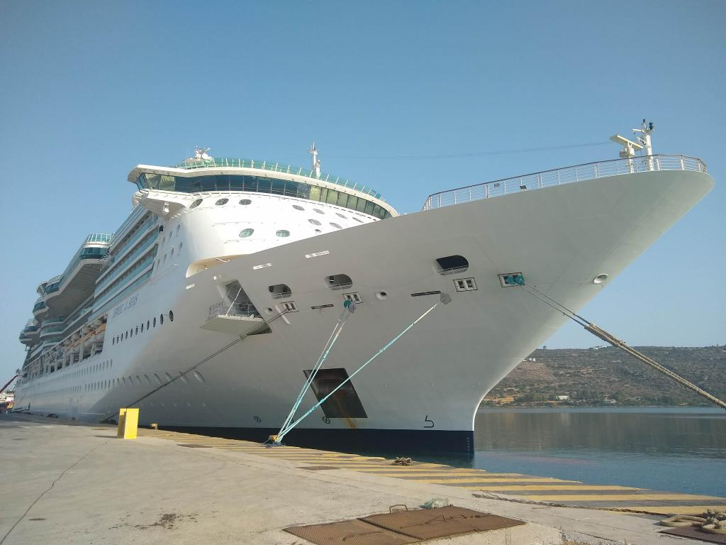 Jewel of the Seas docked in Souda Port – Crete
