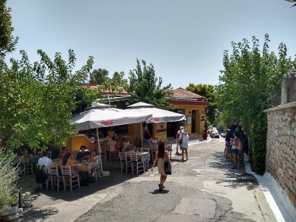 Lunch below the Acropolis