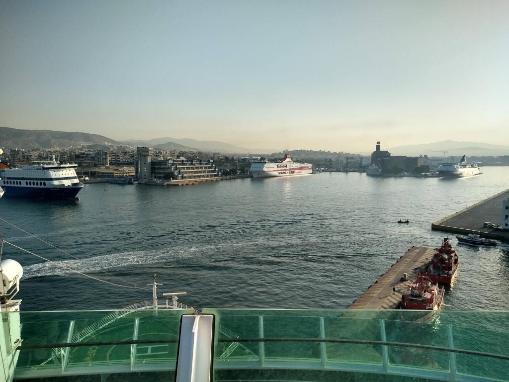 Jewel of the Seas docking in Piraeus