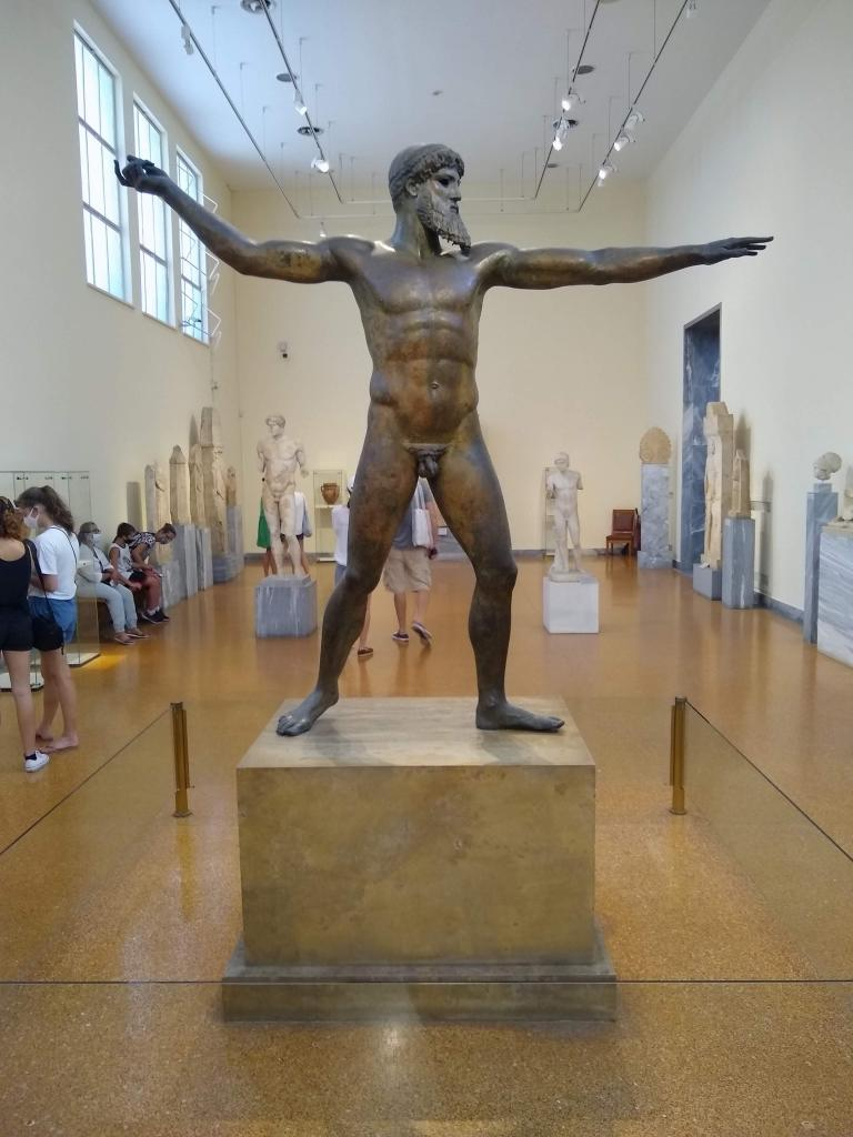 Artmeision Bronze statue – Probably representing Zeus or Poseidon – unknown date but no later than 150BC - National Archaeological Museum Athens