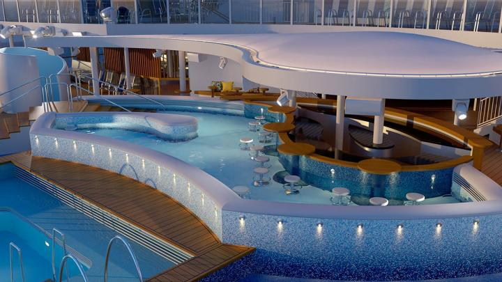 P&O Cruises Unveils Pool Spaces on New Ship Arvia