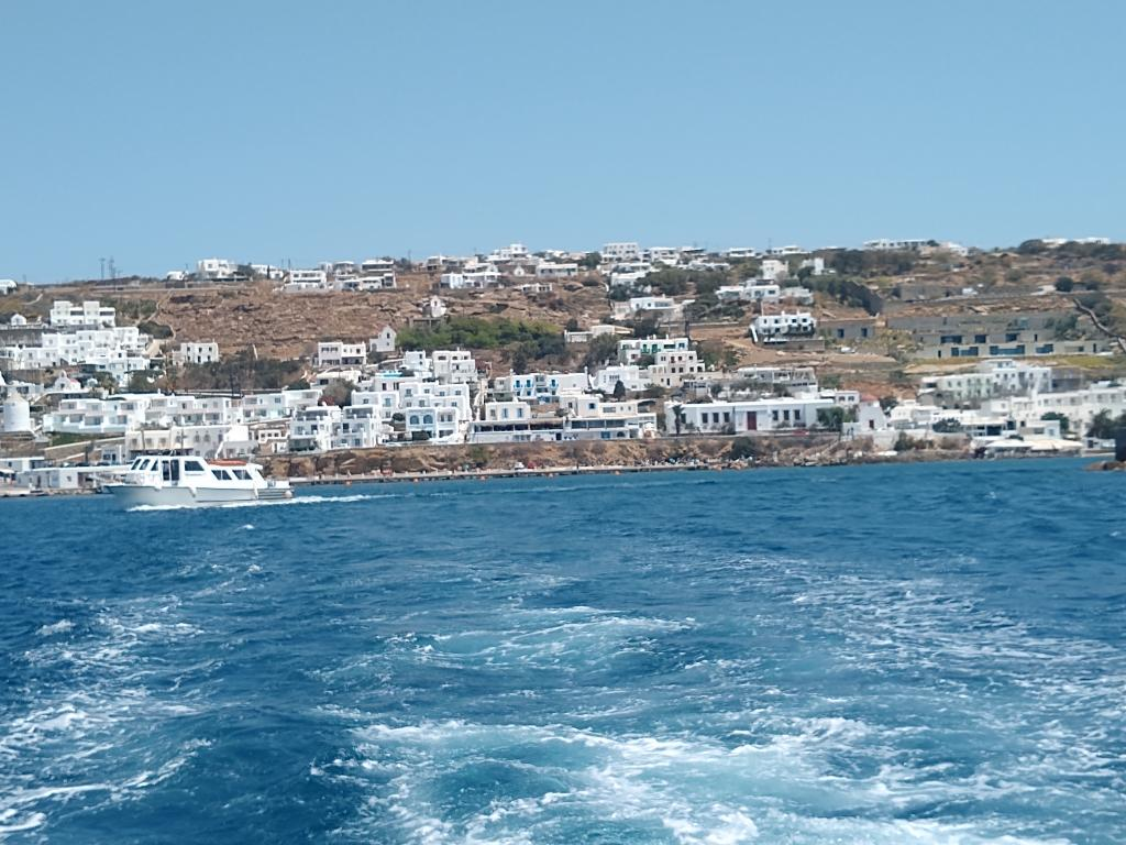 Tender journey from the ship to the Mykonos Old Port