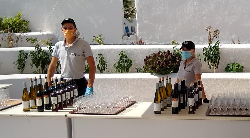 Wine tasting at Santo Wines